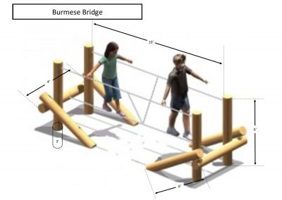 Rec area - Burmese Bridge