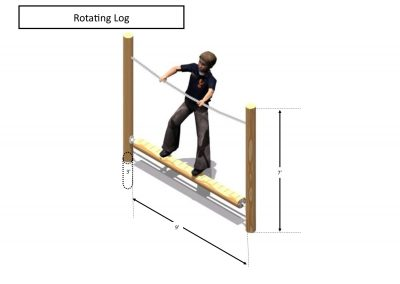 Rec area - Rotating Log