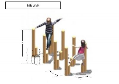 Rec area - Stilt Walk