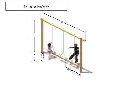 Rec area - Swinging Log Walk